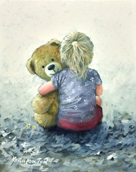 Cuddles by Keith Proctor - Original Painting on Stretched Canvas sized 16x20 inches. Available from Whitewall Galleries